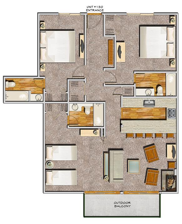 Four Bedroom Apartments Nyc: Floorplans For Aspen Condo Hotel