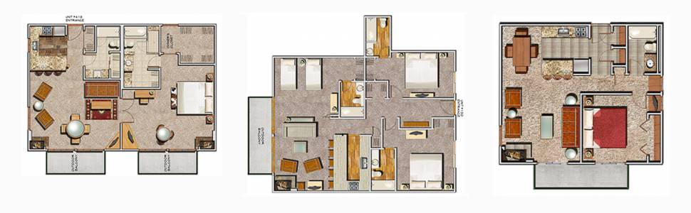 Diagrams of Floorplans available at Aspen Square Hotel
