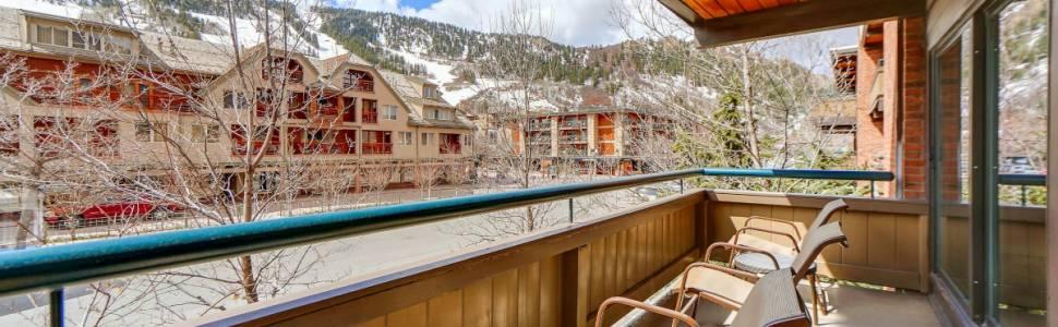 View of Aspen Mountain from a condo deck