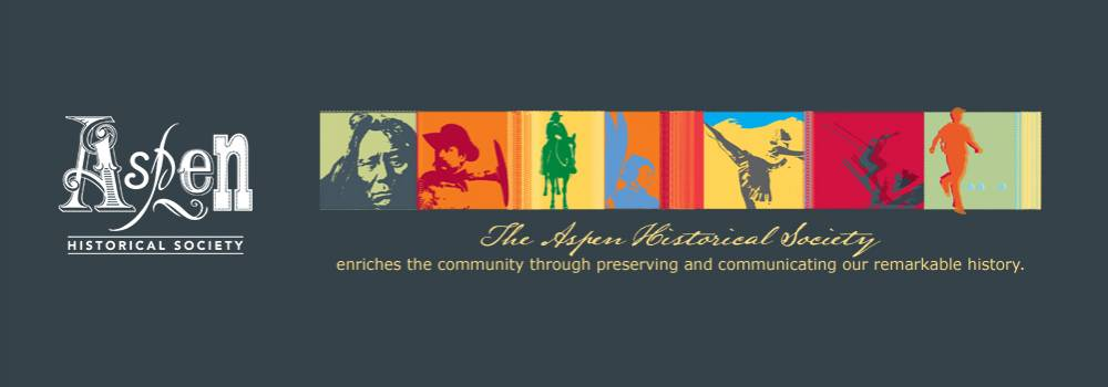 Aspen Historical Society logo and banner with quote