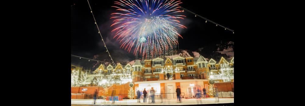 Wintersköl fireworks in Aspen, Colorado