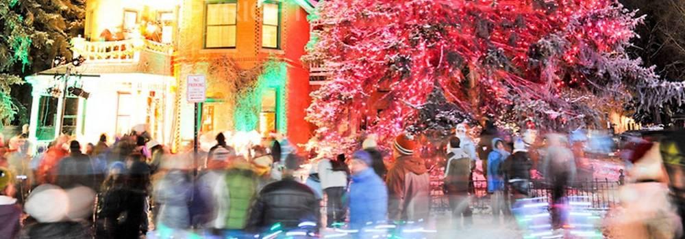 Sardy House tree lighting ceremony in Aspen